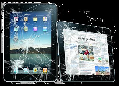 Thay man hinh iPad 2 bi vo