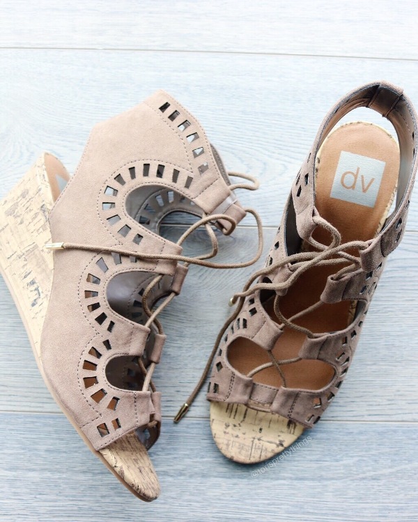 Lace up cut out Wedges - Tori's Pretty Things Blog