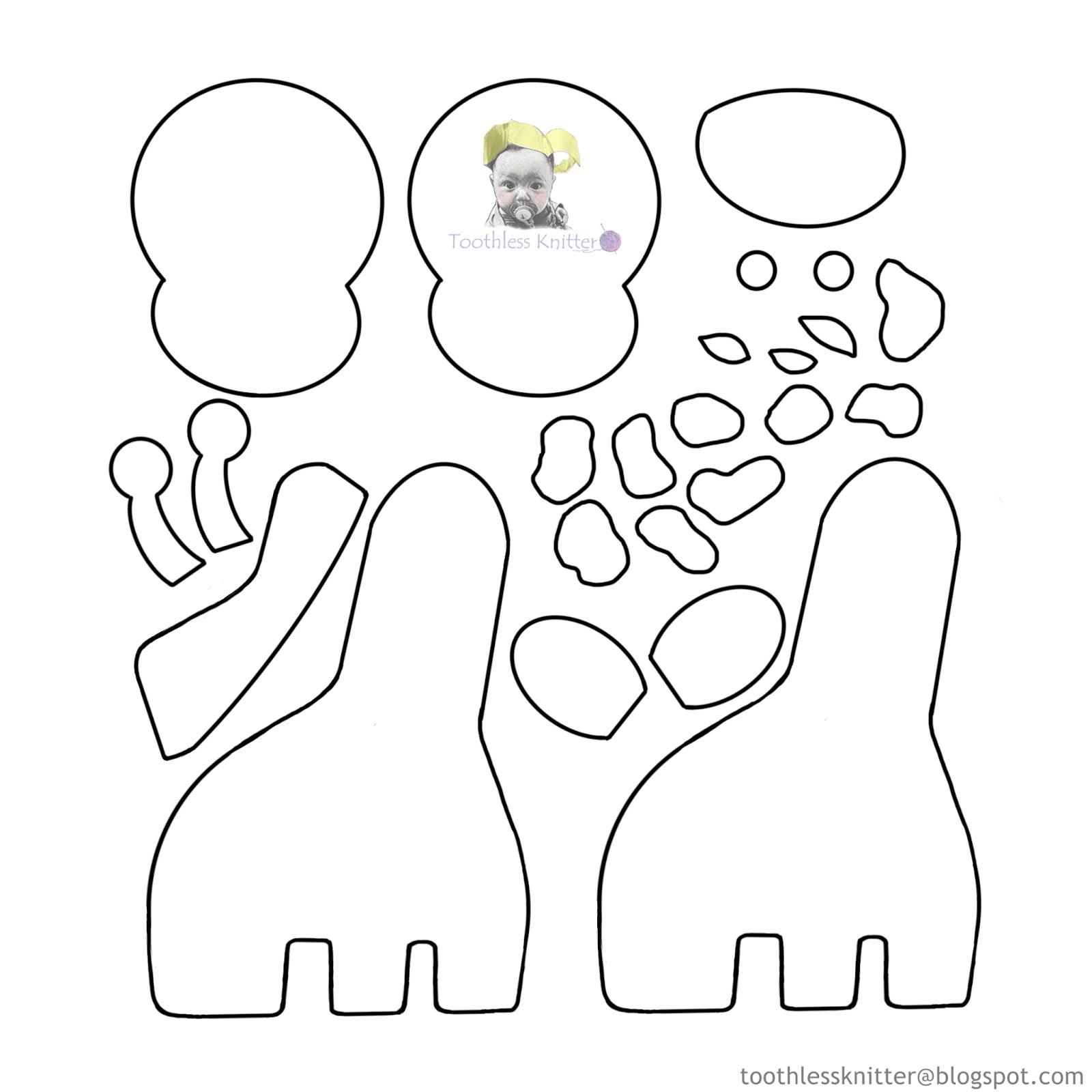 Felt Baby Name Banner for Nursery - Giraffe/ Filcowy Baner Imienny do Pokoju Dziecięcego - Żyrafa