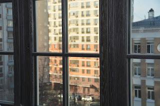 Окна из дуба с брашированием