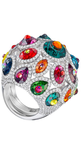 SWAROVSKI LUMINOUS FAIRY RING, MULTI-COLORED, RHODIUM PLATING