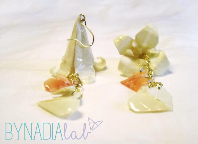 Orecchini sposa origami bynadialab