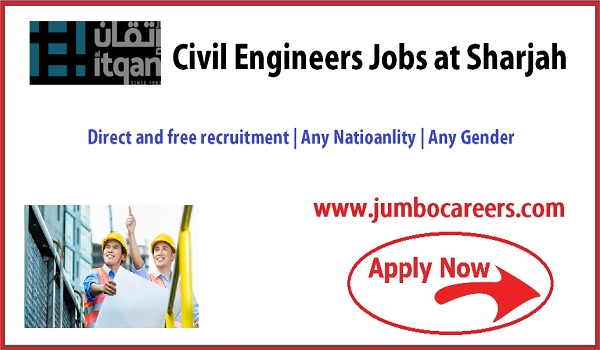 latest Civil engineers jobs in Sharjah, Recent civil engineer UAE jobs with salary,