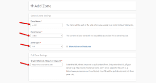 KeyCdn New Zone Detail Fill Up Form