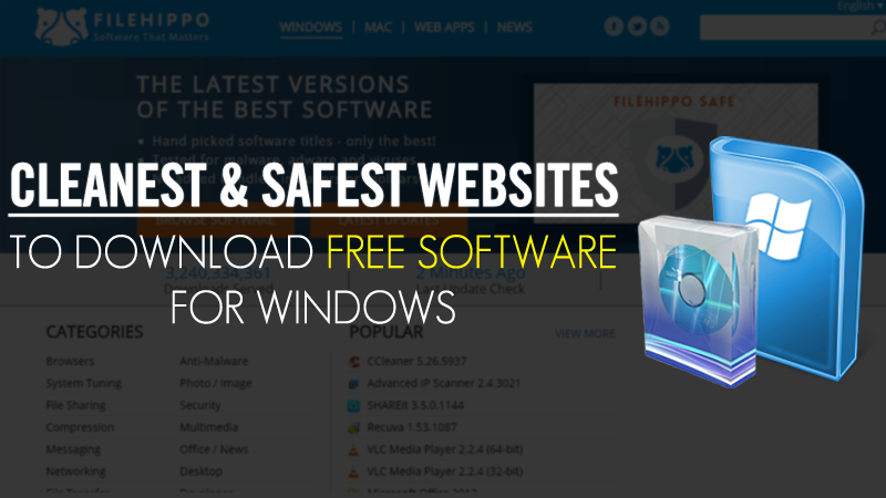 Top 4 Cleanest & Safest Websites to Download Free Software