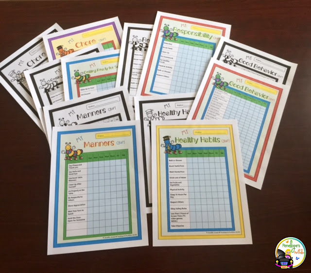 Manners, Healthy Habits, Chores, Getting Reading for School, Resonsibility, and Good Behavior Charts