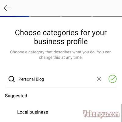 kategori akun bisnis instagram