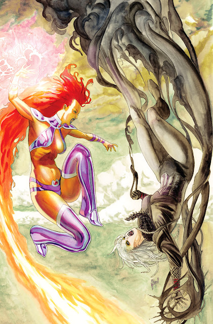 Making of a cover: RED HOOD AND THE OUTLAWS, starring STARFIRE by Guillem March