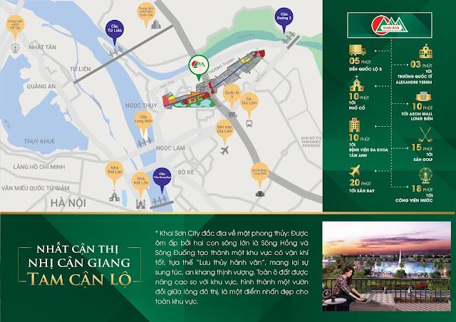 Vị trí quy hoạch Khai Sơn City Long Biên