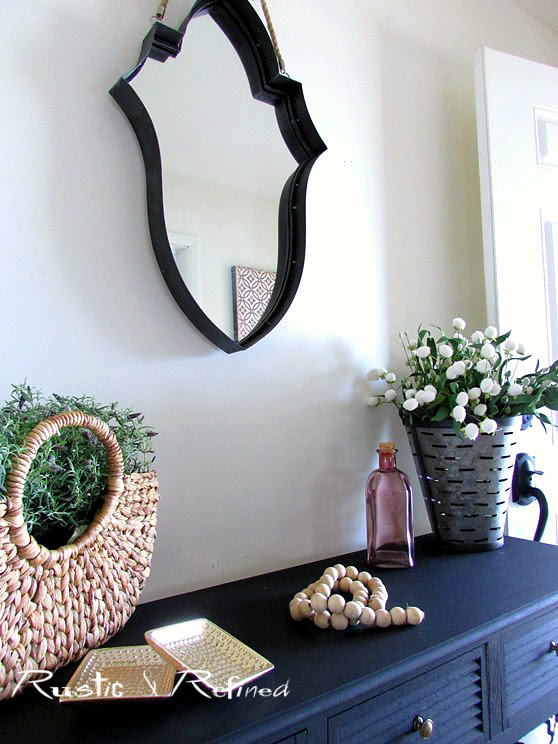 Spring decor in the foyer or entryway