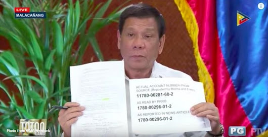 President Duterte made up wrong account number to fool Trillanes