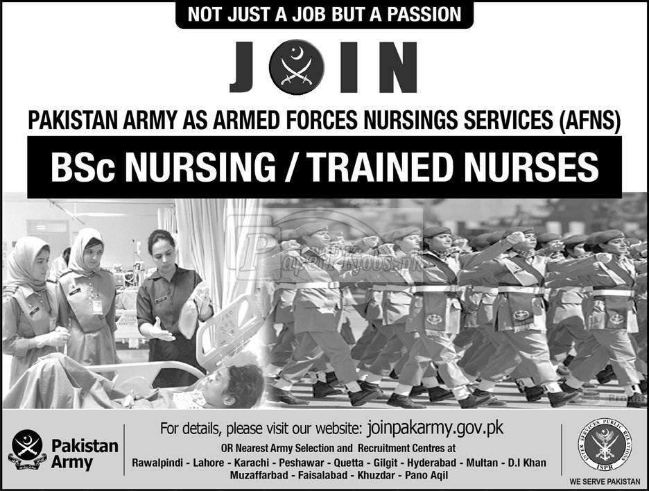 Join Pak Army as AFNS Nurse