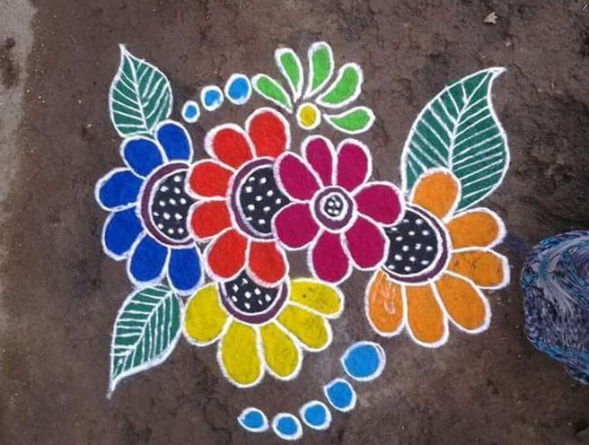 10 best easy rangoli design for Diwali