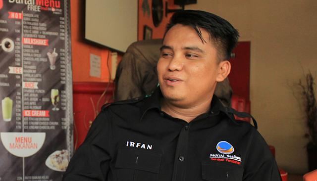 Tokoh Pemuda DPW NasDem SulSel di Bone Siap Memenangkan NH-AZIZ