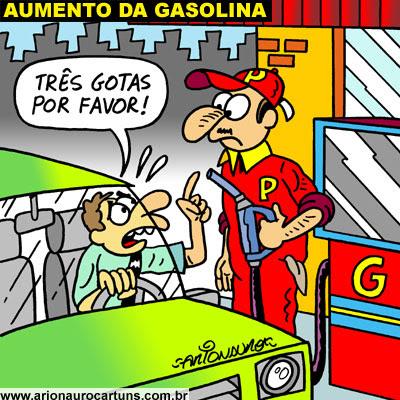 ARIONAURO CARTUNS - Blog do Cartunista Arionauro: Charge Aumento da Gasolina