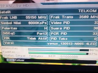frekuensi trans tv terbaru