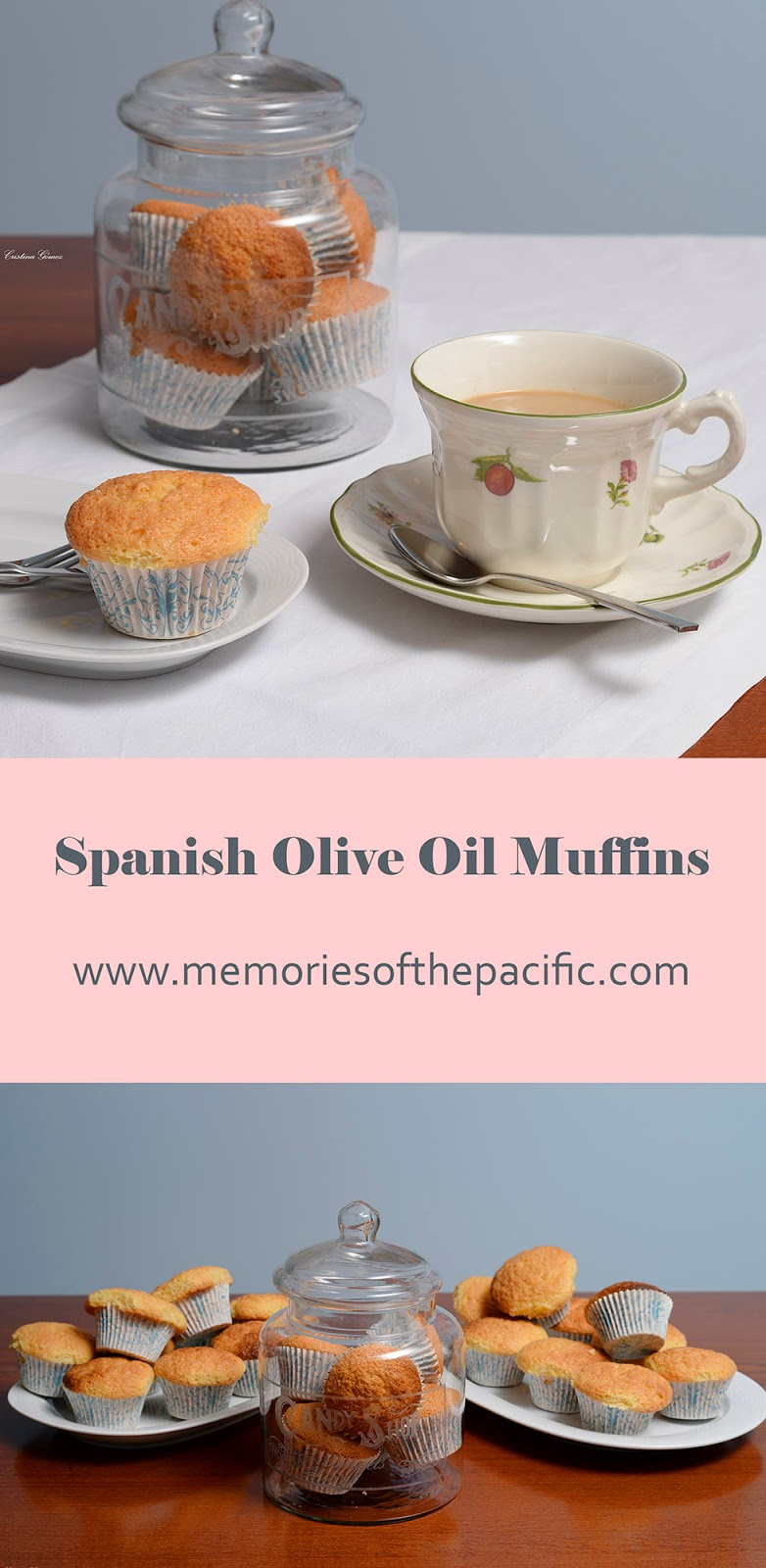 homemade muffins olive oil spanish magdalena casera