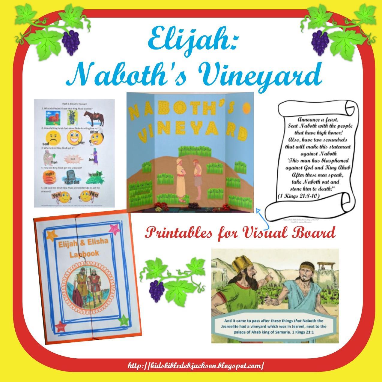Bible Fun For Kids Elijah Amp Naboth S Vineyard