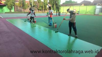 Jasa Pembuatan Lapangan Tenis Finishing Flexy Pave