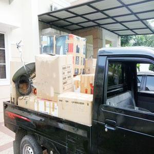 Jasa angkut barang pindahan di Medan.