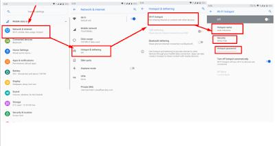 Cara Mengkatifkan tethering wifi untuk Berbagi Koneksi Internet di Android Kita