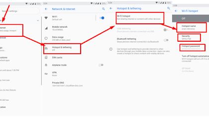 Cara Mengaktifkan tethering wifi untuk Berbagi Koneksi Internet di Android Kita