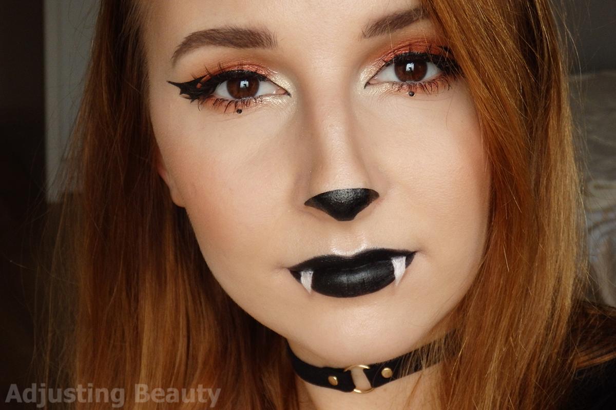 Cute Bat Halloween Makeup - Adjusting Beauty