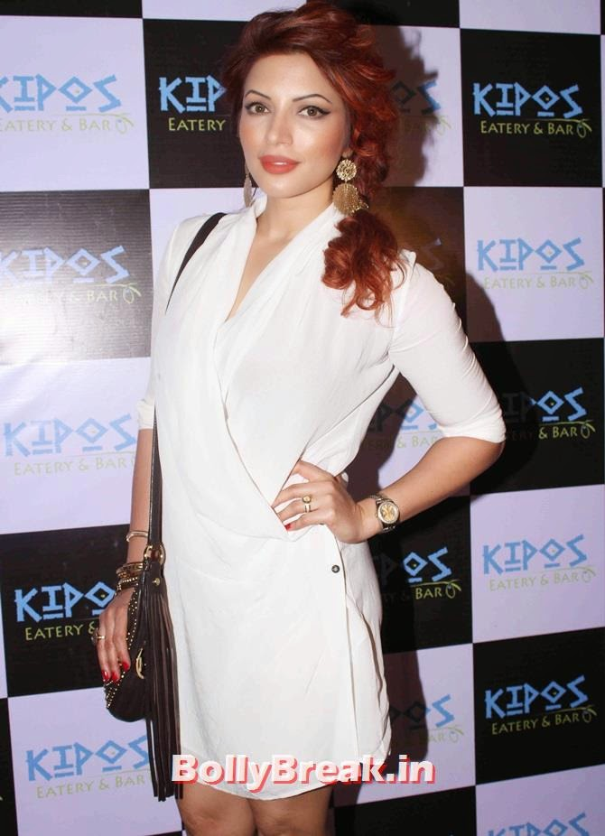 Shama Sikander, Tv Celebs at a restaurant launch