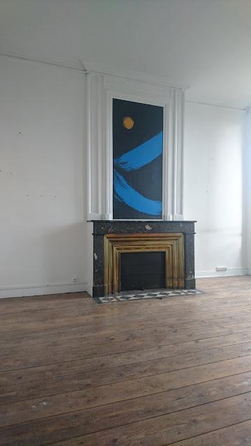 idee peinture sur cheminée appartement Bordeaux jean baptiste besançon street art