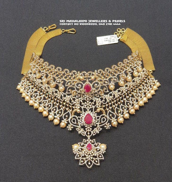 Heavy diamond set by sri mahalaxmi jewellers