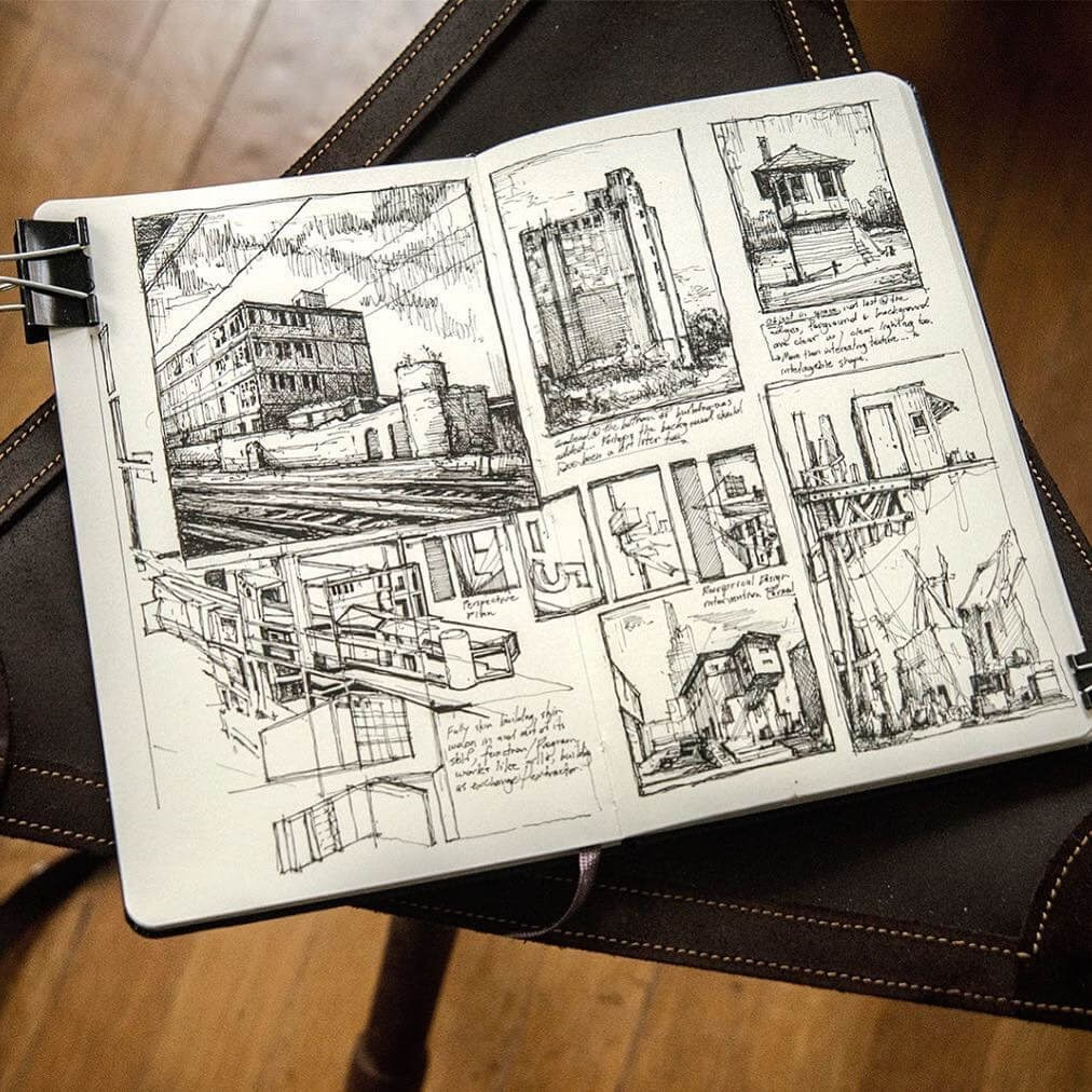 13-Thoughts-from-the-train-Jerome-Tryon-Moleskine-Book-with-Sketches-and-Notes-www-designstack-co