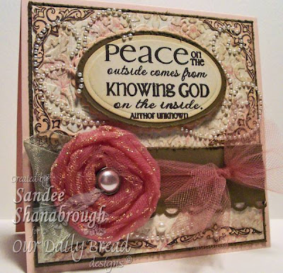 "Our Daily Bread designs ""Peace - the Full of Grace Collection"" Designer Sandee Shanabrough"