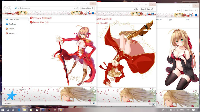 Fate/Extra: Last Encore Theme Win 10 Ver. 1703 by Enji Riz Lazuardi