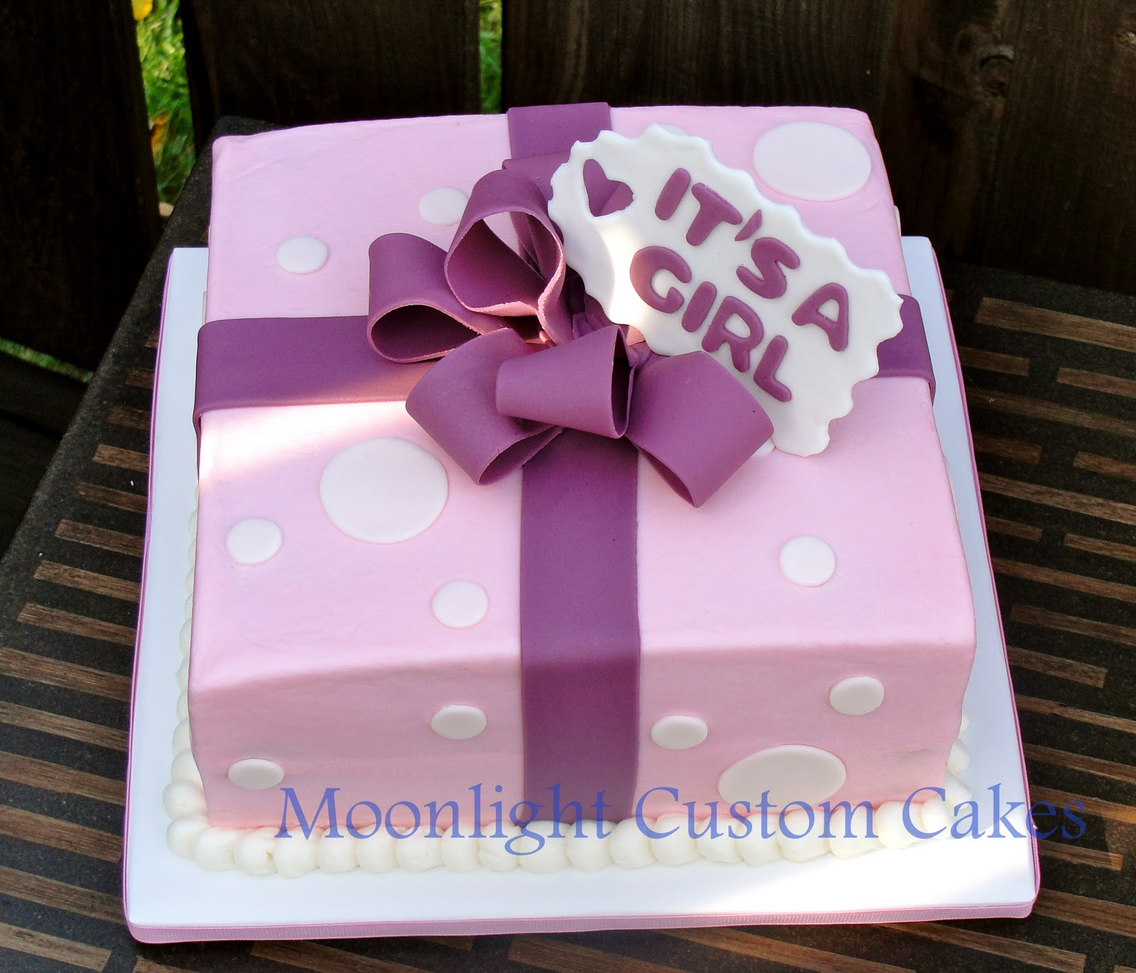 Simple Baby Shower Cakes Girl