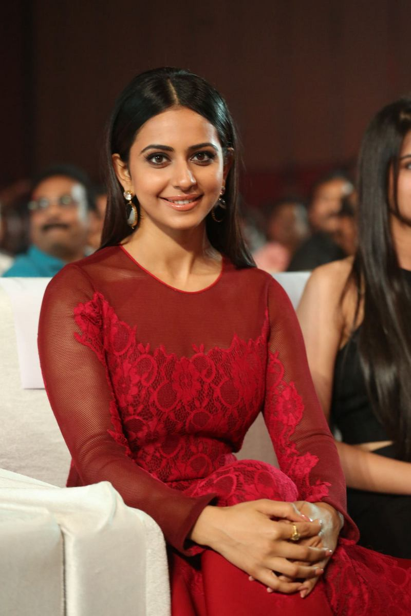 Rakul Preet Singh is seen attending an audio launch event. This beautiful lass has taken giant strides in style from the time of her first movie.
