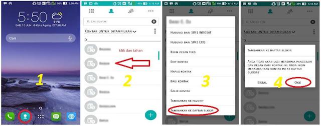 Cara Blokir Panggilan dan Sms di Hp Asus Terbaru