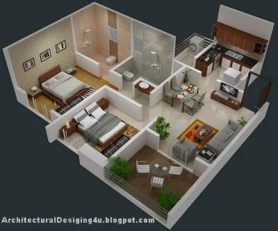 3d 3 Bedroom Apartment Floor Plans