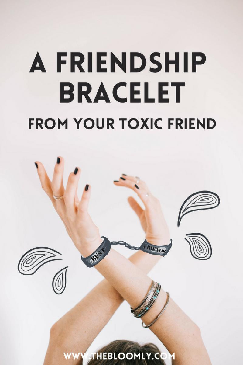 """friendship bracelet"" handcuffs holding you back"