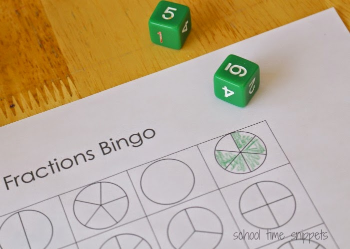 printable fractions game
