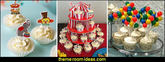 circus Balloon cluster Cake topper  circus cupcake toppers