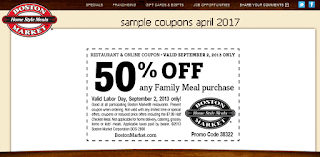 Boston Market coupons for april 2017
