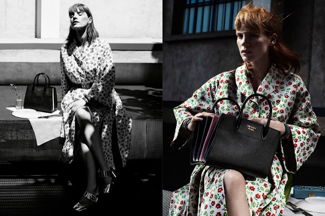 Jessica Chastain heads to Milan for the Prada Resort 2017 Campaign