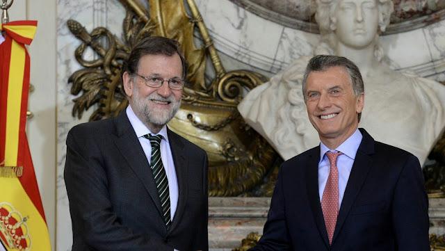 El presidente Mauricio Macri recibió en la Casa Rosada a su par de España, Mariano Rajoy.