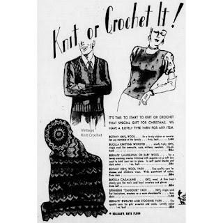 Vintage 1945 Spinnerin Yarn Newspaper Article