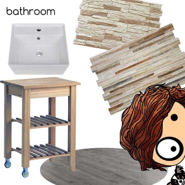 ilustración | illustration foltys vs the interior designer - bathroom planning