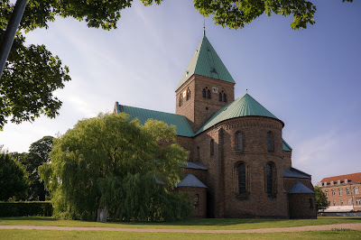 brick, cathedral, historical, church, denmark, royal, romanesque, royal church, sct. bendt, ringsted