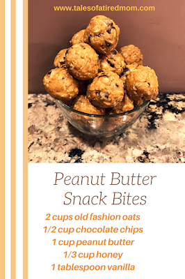 Try these delicious peanut butter snack bites that are perfect to take for breakfast, snack on the go, afternoon pick me up or even after a workout.