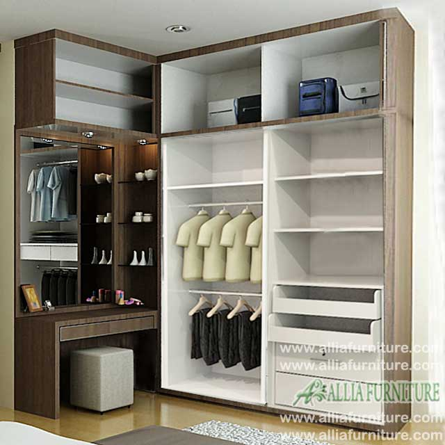 lemari baju minimalis sudut l vista