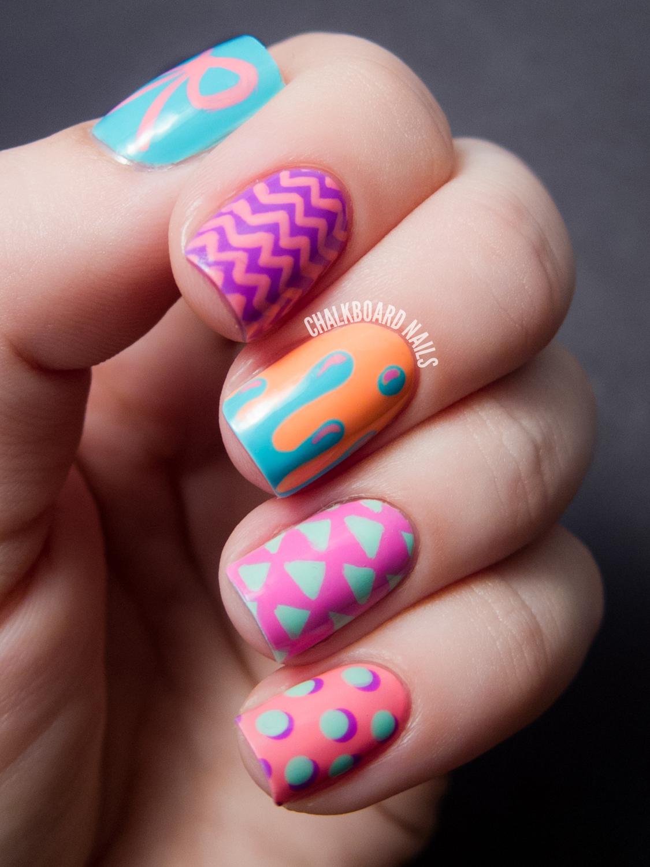Hipster Mix and Match - China Glaze Sunsational Nail Art ...