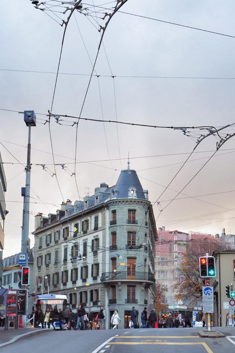 Rue de Lausanne en Suisse